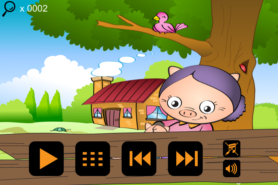 Screenshot wStory interactive kids stories – reading, finding, funny